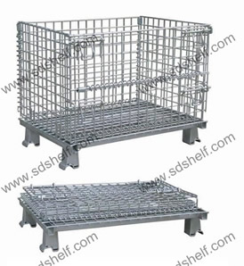 Foldable pallet cage