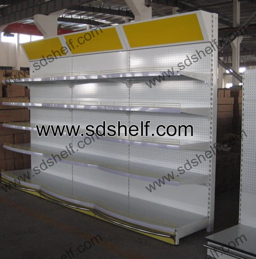 display shelving with light box