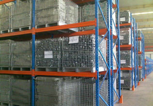 warehouse cage on rack